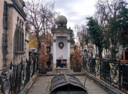 The grave of Iulia Hasdeu, closely mirroring her love of literature and occultism